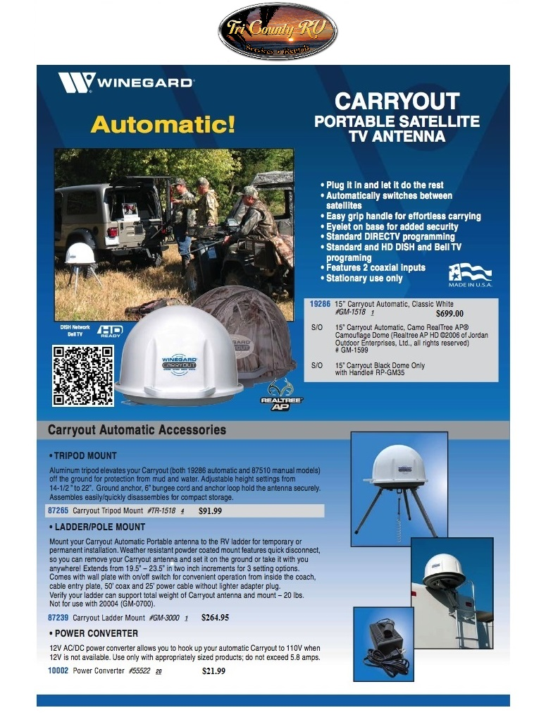Carryout Satellite Systems