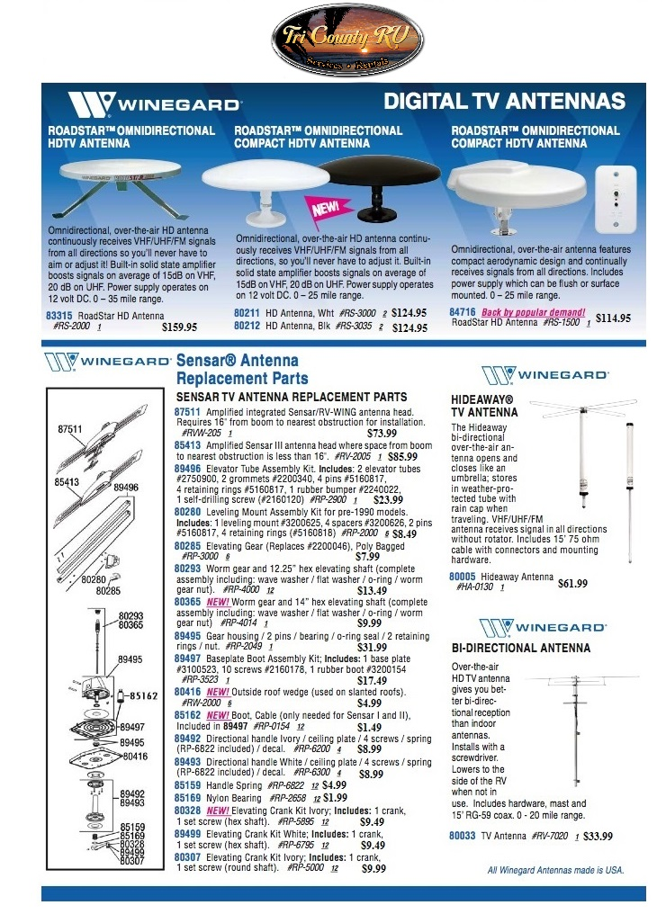 Tri County RV Antenna System Options