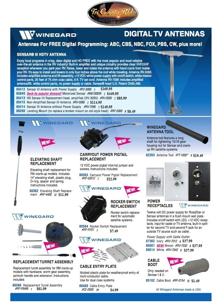 RV Antenna Accessories