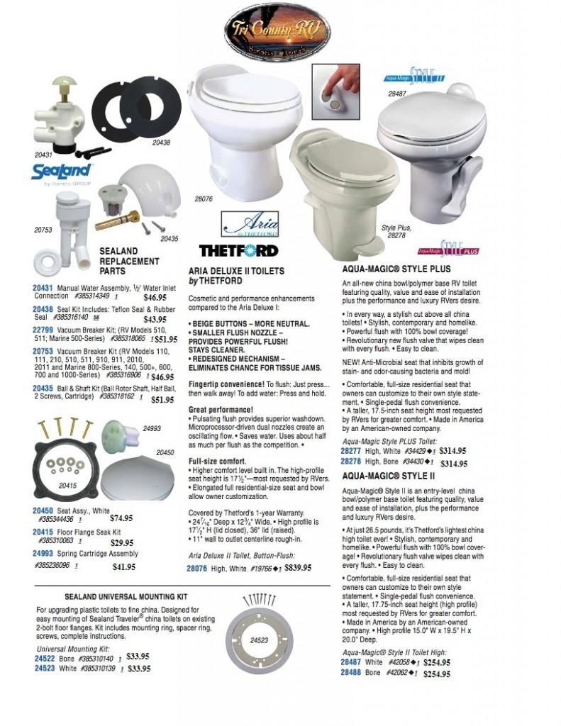 RV Parts / Plumbing; Toilet 454