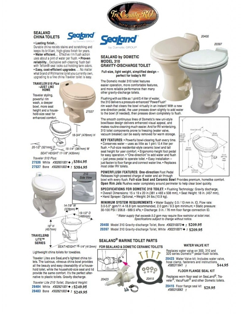 Tri County RV Parts / Toilet 455