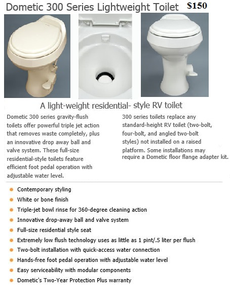 RV Parts / Plumbing; ReVolution 300 Toilet